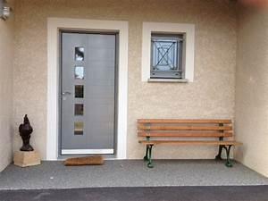 Porte Entrée Aluminium Rénovation : installateur de portes d 39 entr e aluminium isolantes ~ Premium-room.com Idées de Décoration