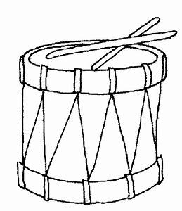 Drum Coloring Page - Coloring Home
