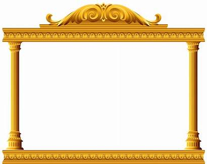 Transparent Clipart Pillar Deco Columns Temple Golden