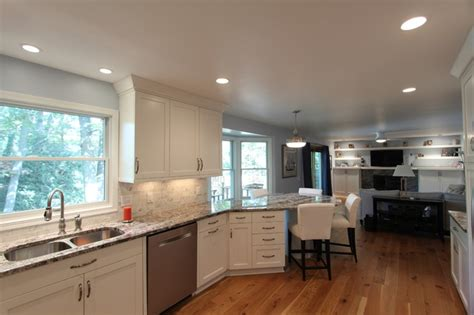 Kitchen Peninsula Houzz by Peninsula Seating In Kitchen Replaces Table Transitional