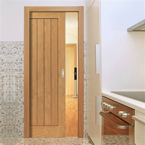 river thames original oak single pocket door