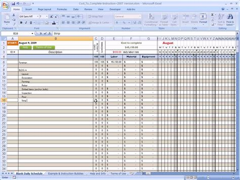 Free Budget Sheet Template Excel Spreadsheet For Construction Estimating Laobingkaisuo Com