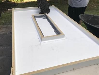 Table Fire Diy Concrete Edges Silicon Building