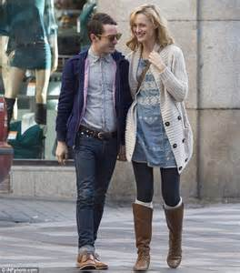 Elijah Wood walks hand in hand through Madrid with Grand ...