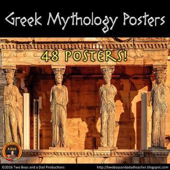 greek mythology posters  greek gods mythological