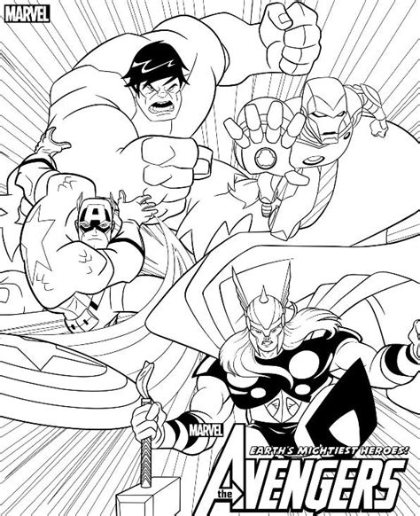 kids n fun com 18 coloring pages of avengers