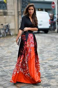 Orange Maxi Skirt Outside Zuhair Murad   Gastro Chic