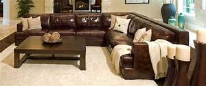 Elements fine home furnishings easton top grain leather for Easton leather sectional sofa