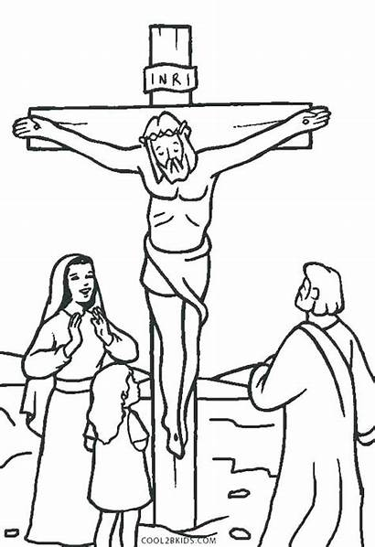Jesus Coloring Pages Printable Cross Died Christ