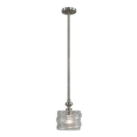 mossa 1 light seeded glass mini pendant from uttermost