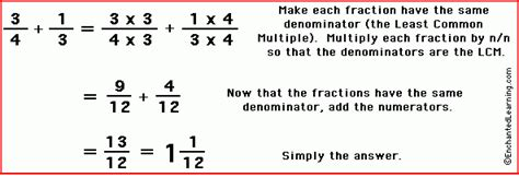 How Do You Add Fractions That Don T Have The Same Denominator Howstoco