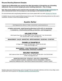 Branding Your Resume by Best 20 Personal Brand Statement Exles Ideas On