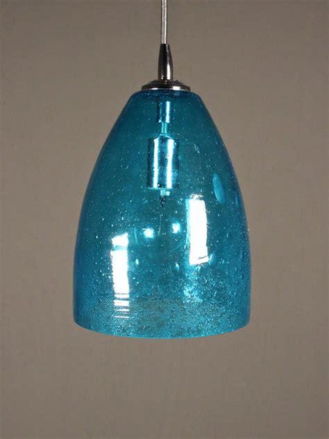 aqua seeded glass pendant dome eclectic pendant