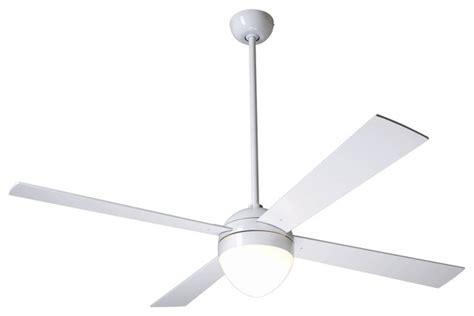 52 quot modern fan gloss white with light ceiling fan