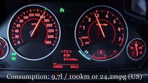 bmw  fuel consumption test youtube
