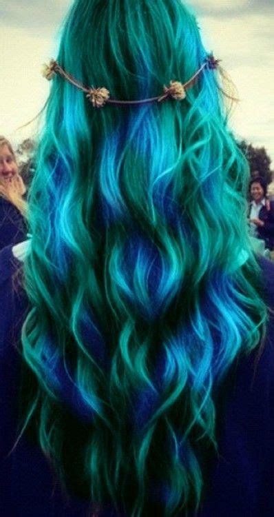 1000 Ideas About Blue Mermaid Hair On Pinterest Mermaid