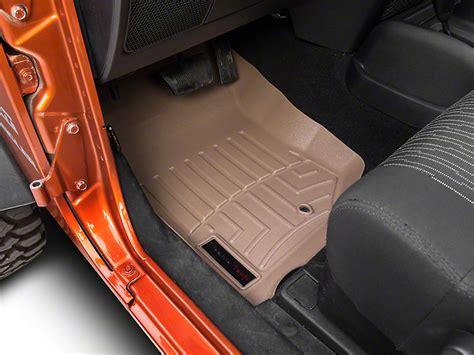 weathertech floor mats sticky weathertech wrangler digitalfit front floorliner tan 451051 07 13 wrangler jk free shipping