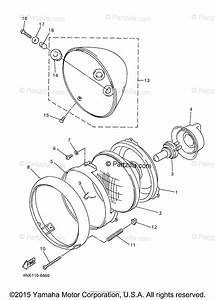 Yamaha Motorcycle 1998 Oem Parts Diagram For Headlight