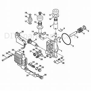 Stihl Re 108 Pressure Washer  Re 108  Parts Diagram  Pump