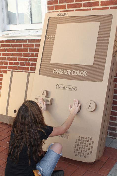 Cardboard Nintendo Game Boy Color Has One Color Cardboard