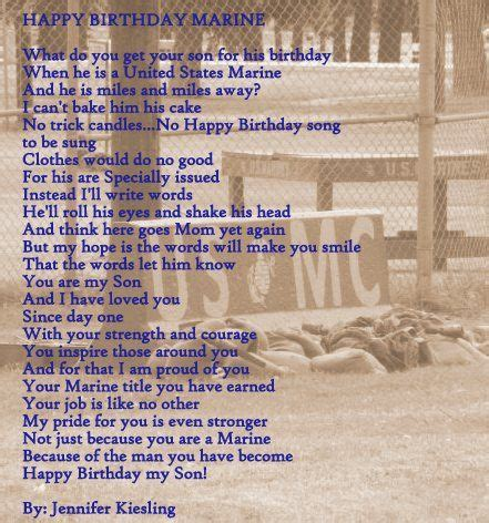 sons  birthday   marine marine mom marine