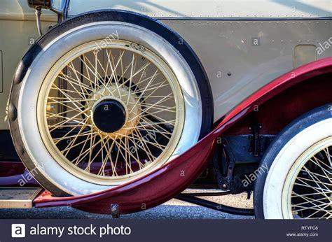 Classic Car Spare Tire On Stock Photos & Classic Car Spare