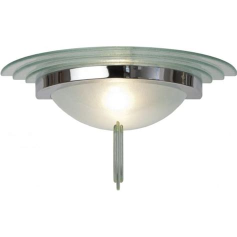 large deco style wall washer light frosted glass with chrome