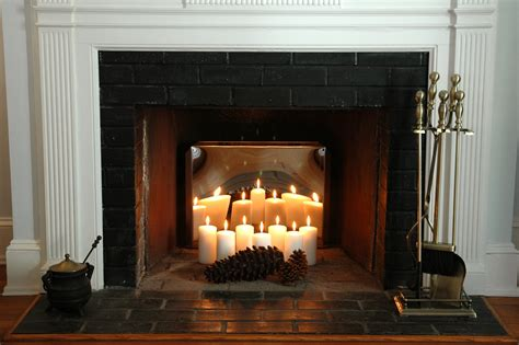 candles in fireplace summer decorating ideas for your fireplace fireplacemall