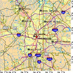 Zip Code Map Atlanta GA