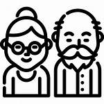 Grandparents Icono Abuelos Clipart Icons Pelayanan Lansia