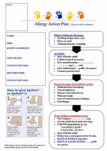 march 2013 paediatric pearls With allergy action plan template