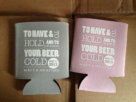 Cold Beer Koozie Custom Wedding Koozies By Rookdesignco On