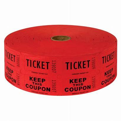 Ticket Raffle Tickets Clipart Roll Printable Cliparts