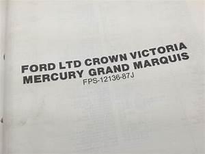 1987 Ford Ltd Crown Victoria  Mercury Grand Marquis Car