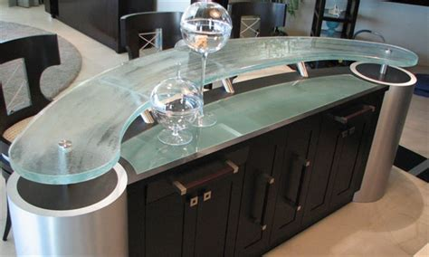wet bar curved counter tops signature art glass