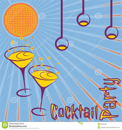 vintage cocktail party clipart retro cocktail party card royalty free stock photo image