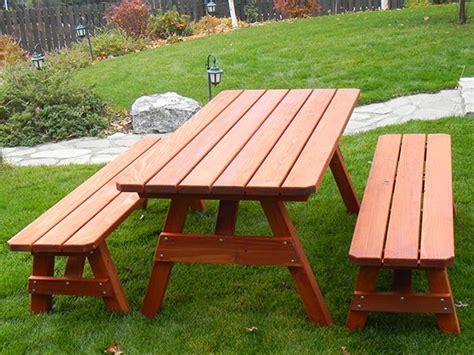 build  smoker house redwood picnic table set