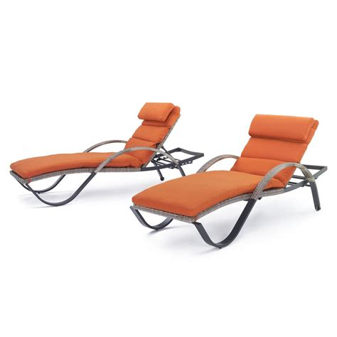 canne chaise rst brands cannes patio chaise lounge with tikka orange