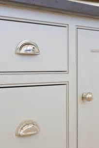 kitchen cabinet handles ideas grey kitchen cabinetry and polished nickel handles at the the forge house hertfordshire