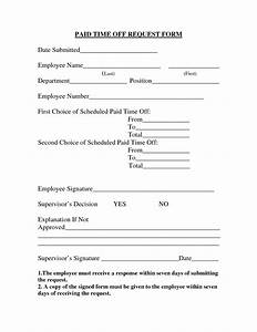 time off request forms With paid time off policy template