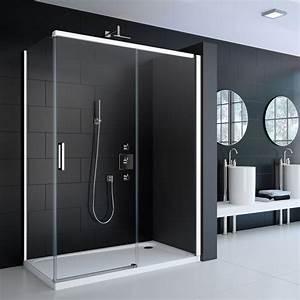 la salle de bain en noir et blanc masalledebaincom With porte de douche coulissante avec vasque salle de bain noir mat