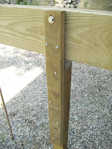 Notching Deck Posts For Beams by When A Beam Is Supported By A 4x4 Post Which Cant Be