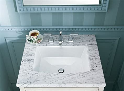 KOHLER K 2355 0 Archer Under Mount Bathroom Sink, White