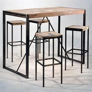 Bar Mange Debout : mange debout industriel en fer et de bois pas cher ~ Teatrodelosmanantiales.com Idées de Décoration