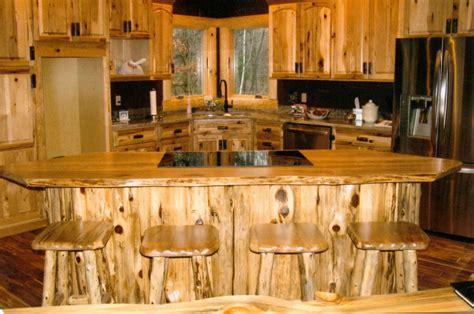 rustic log kitchen bath