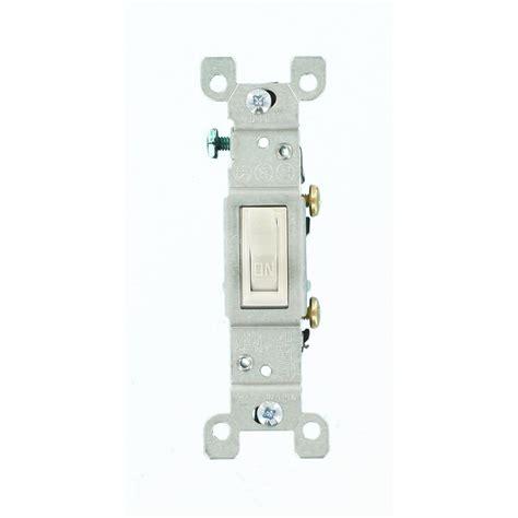 single pole switch leviton 15 amp single pole toggle switch white r52 01451 02w the home depot