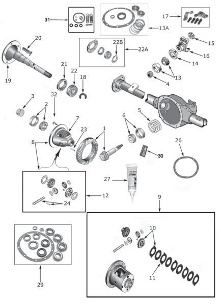 Jeep Exploded Diagram by Wrangler Yj 35 Rear Axle Parts 1987 95 Exploded