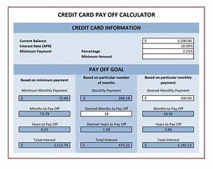 credit card payoff calculator excel templates With credit card statement template excel
