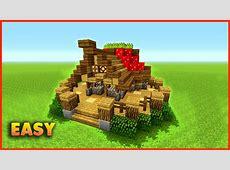 Minecraft How To Build A Small Mushroom House Tutorial