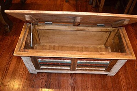 distressed trunk coffee table crafters and weavers rustic distressed reclaimed solid